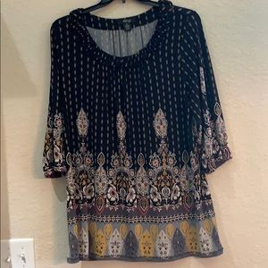 Style & Co patterned polyester tunic